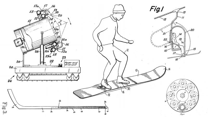 Illustration for article titled 17 Historic Patents That Made Winter Olympic Sports Possible