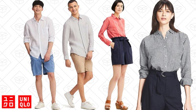 Women's linen shirts | $20 | UniqloMen's linen shirts | $20 | Uniqlo