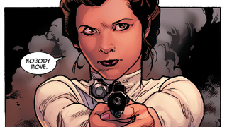Illustration for article titled In This Week's Star Wars Comic, Princess Leia Gets To Kick Butt—Literally