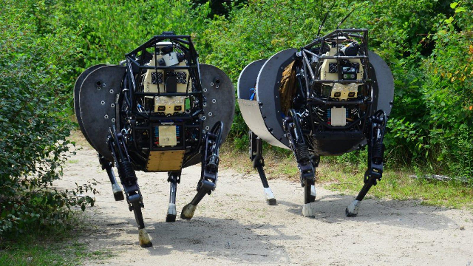 Este inquietante robot pronto será antibalas y silencioso