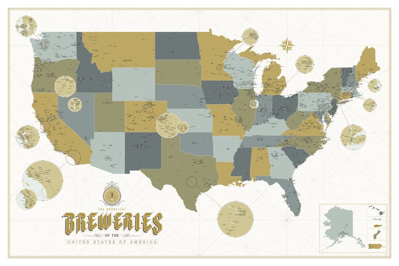 Illustration for article titled Over 2,500 American Breweries, On One Enormous Map