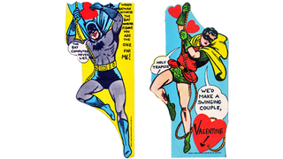 Illustration for article titled 1960s Batman Valentine's Day Cards Are Weirdly Awesome