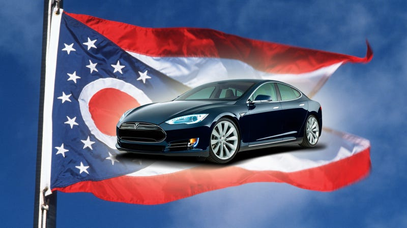 Illustration for article titled Tesla Scores Win Against Car Dealers In Ohio As Amendment Is Defeated