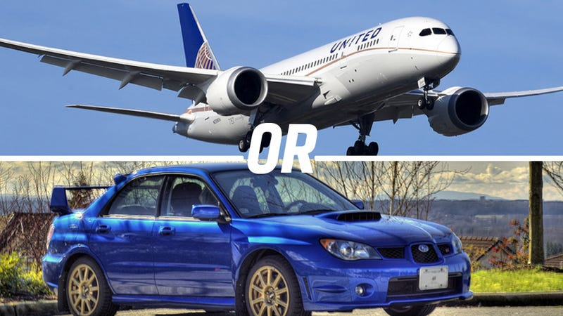 Illustration for article titled How Good Is A Subaru STI At Being A Plane?