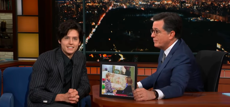 Cole Sprouse, Stephen Colbert