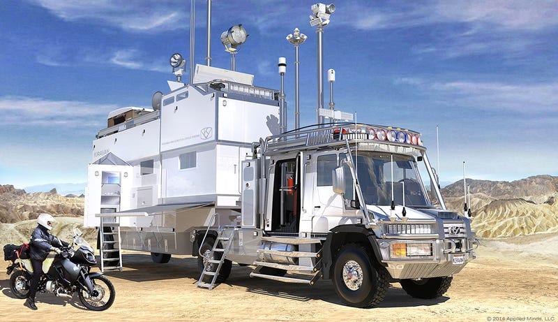 Illustration for article titled Este camión de alta tecnología para expediciones es el Optimus Prime de las autocaravanas