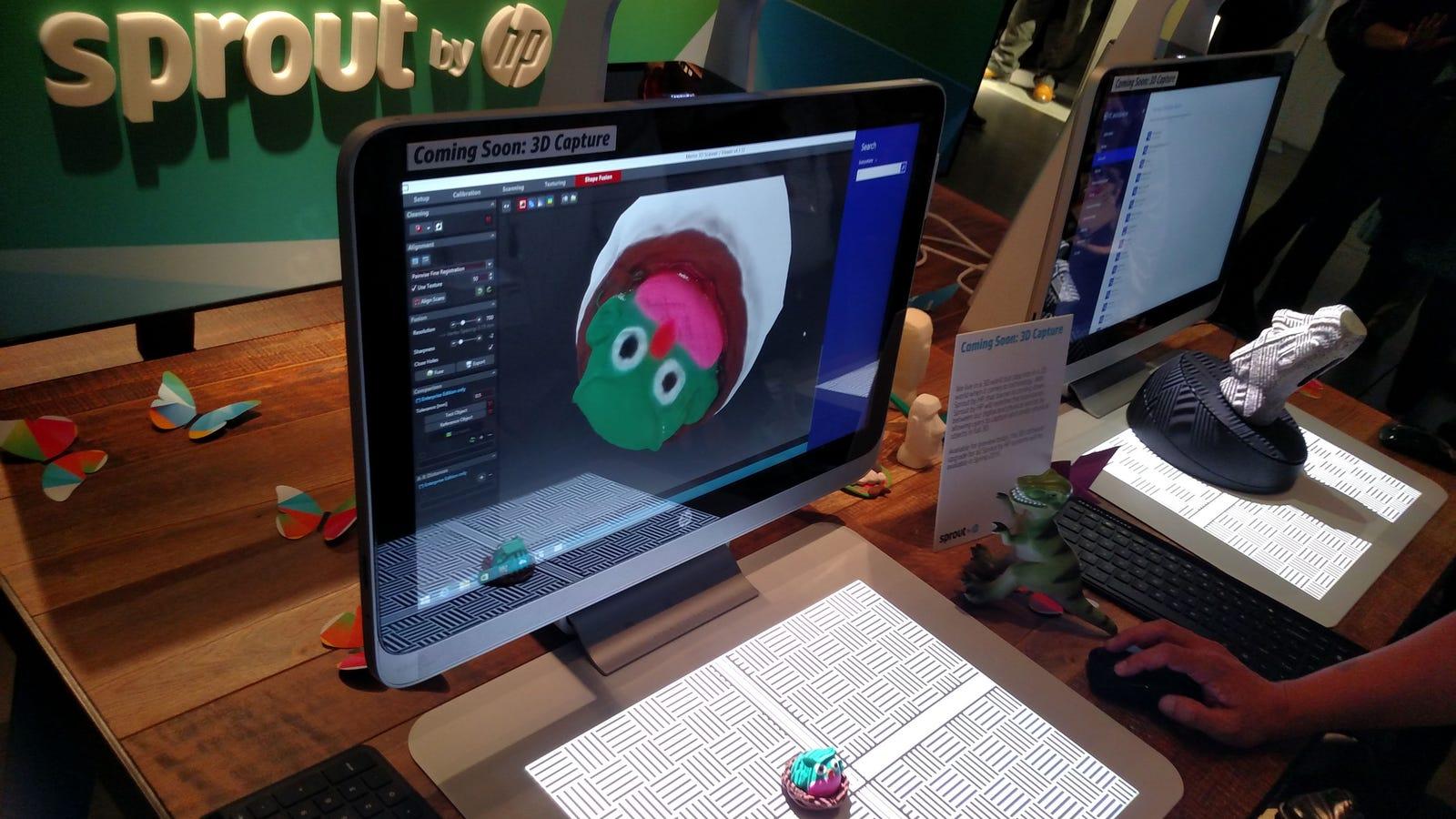 HP Sprout: el PC todo en uno sin teclado que escanea objetos en 3D