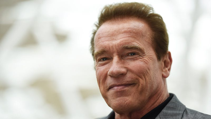 Arnold Schwarzenegger shows Trump how to make a speech denouncing Nazis
