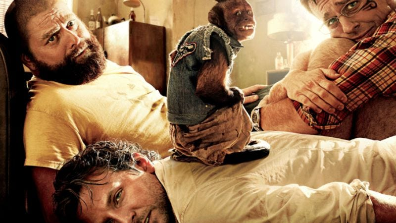 Illustration for article titled The trailer for The Hangover II: Those who cannot remember the past are condemned to repeat it with a monkey