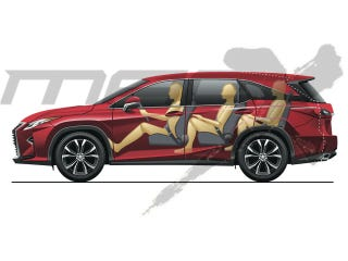 Illustration for article titled Lexus is readying a 3 row RX because why the hell not. Crossovers are hot.
