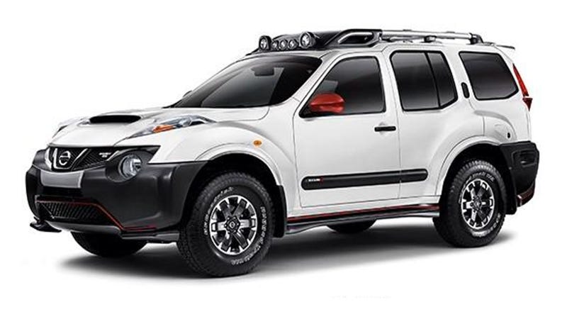 Illustration for article titled Nissan Xterra + Juke Nismo Mashup Looks Like A Street-Legal Lunar Rover