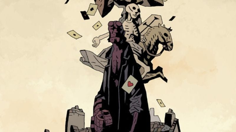 Illustration for article titled Mignola's haunting Hellboy In Hell #6 shows the full scope of his genius
