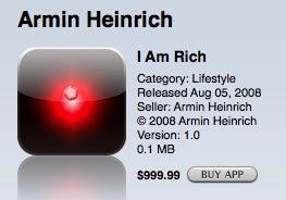 I Am Rich App Verkaufszahlen