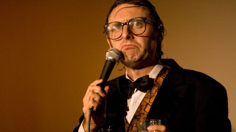 """Illustration for article titled Neil Hamburger laments the """"great entertainers"""""""