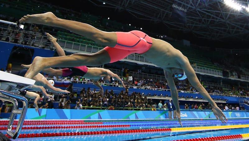 Una pruba de natación en los Juegos Olímpicos de Río. Imagen: AP