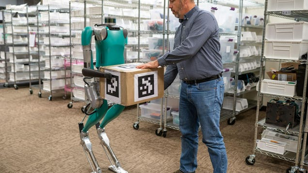 This Satyrlike Robot Brings Boxes to You Like a Metal Mr. Tumnus