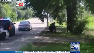 Scene of Sandra Bland's arrest in Texas July 10, 2015ABC 7 Chicago screenshot