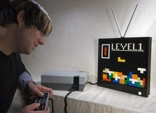 Illustration for article titled Life-Sized NES Made From LEGO