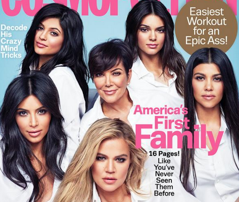 Illustration for article titled People Are Pissed at Cosmopolitan for Calling the Kardashians 'America's First Family'