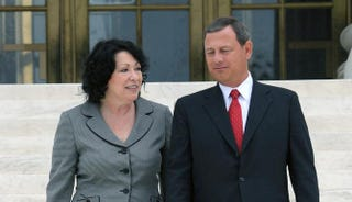 Associate Justice Sonia Sotomayor and Chief Justice John RobertsJEWEL SAMAD/AFP/Getty Images