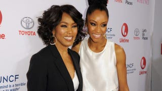Director Angela Bassett and actress Yaya DaCosta arrive at the premiere of Lifetime's Whitney at the Paley Center for Media on Jan. 6, 2015, in Beverly Hills, Calif.             Angela Weiss/Getty Images