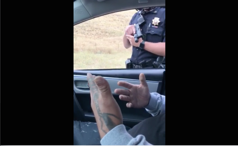 Cop Points Gun At Passenger For 9 Mins During Traffic Stop