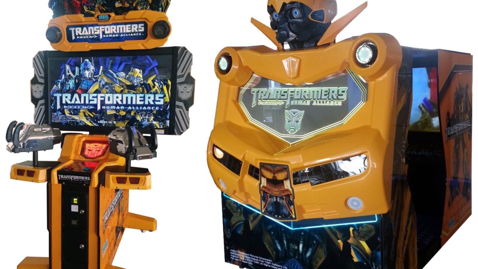 New Transformers Co Op Arcade Shooter