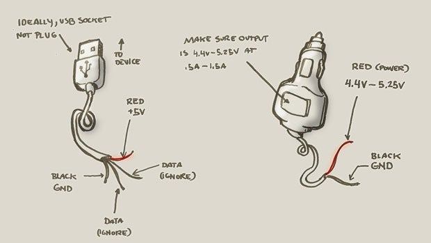 How To Make A Quick And Dirty Emergency USBToCigarette Lighter Socket