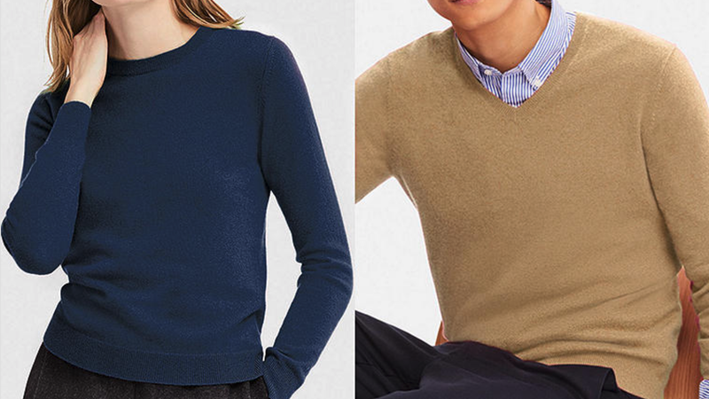 Keep Warm In Cashmere With These Discounted Uniqlo Sweaters
