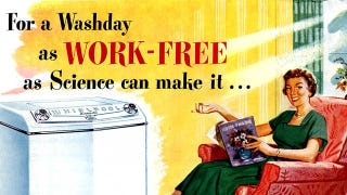 """Illustration for article titled How To Manufacture The """"Career Women Love Housework"""" Story"""