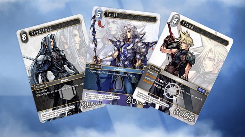 Illustration for article titled Oh No, The Final Fantasy Trading Card Game Launches In English Next Month