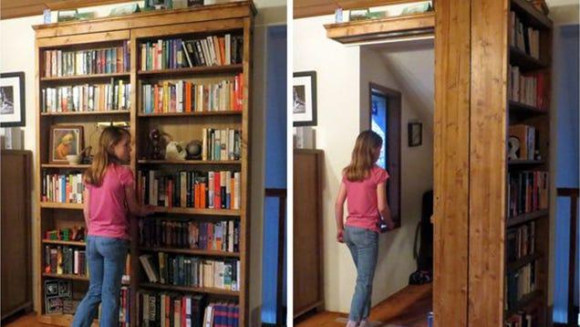 Diy Sliding Bookshelf Door