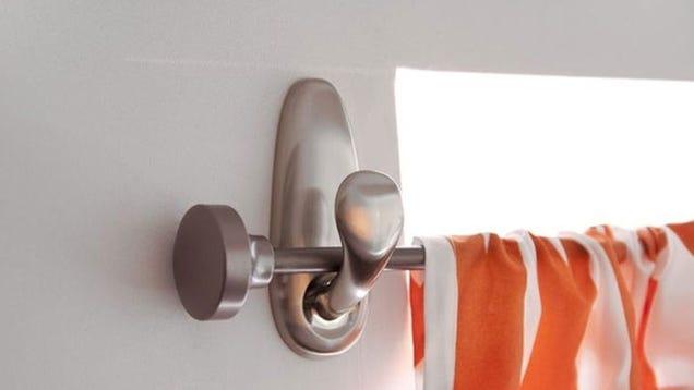 Adhesive Curtain Rod Brackets