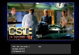 Illustration for article titled CBS Website Shows HTML5 Testing For iPad