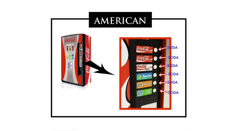 Illustration for article titled The Difference Between Japanese and American Vending Machines