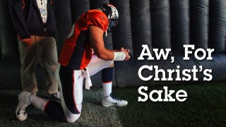 Illustration for article titled The Stupid Moral Panic Over Mocking Tim Tebow; Or, What Would Jesus Do About Tebowing?