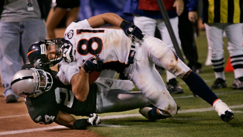 The author is tackled in a 2008 game.