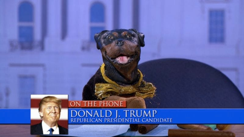 triumph's election special 2016 poops on politics for too long
