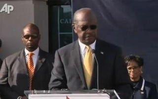 Illustration for article titled Herman Cain Out; Says Media 'Spin Hurts'