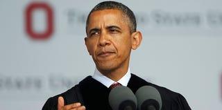 President Obama at Ohio State University (Matt Sullivan/Getty Images)