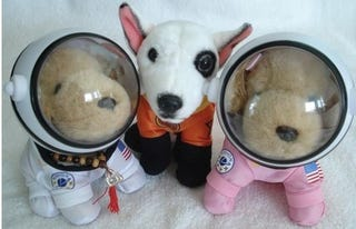 Illustration for article titled Not Sure What's Worse, Evil Space Dogs Or Their Plush Counterparts