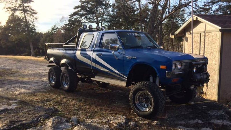Illustration for article titled This Datsun 6x6 Pickup Is The Overkill Answer To The Apocalypse