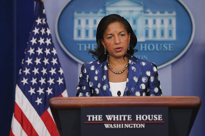 White House national security adviser Susan Rice in 2015 Chip Somodevilla/Getty Images