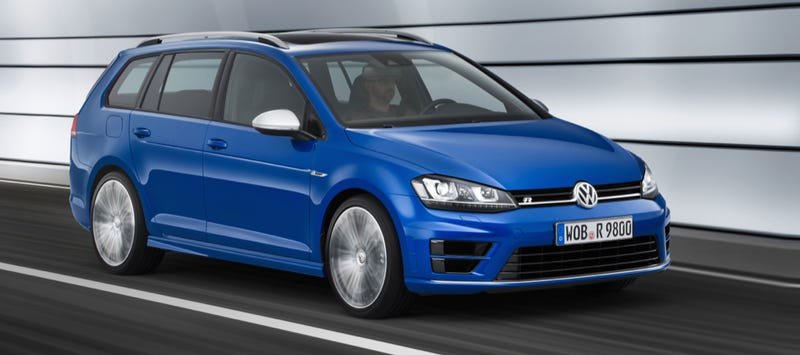 Illustration for article titled The Hot Volkswagen Golf R Wagon Is Real And It's Coming To The U.S.*