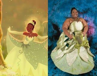Princess Tiana; me as Princess Tiana