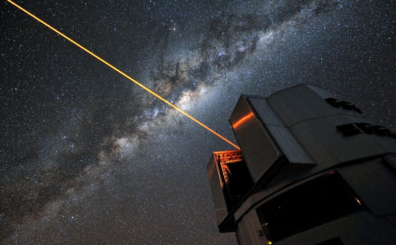 A 22W laser used for adaptive optics on the Very Large Telescope in Chile. ESO / G. Hüdepohl