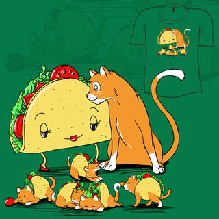 Illustration for article titled What If a Cat Fell in Love with a Taco and They Had Babies?