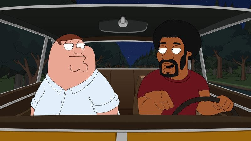 "Illustration for article titled Family Guy: ""Baby Got Black"""
