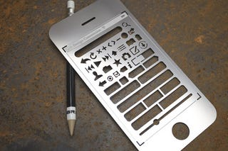 Illustration for article titled The iPhone User Interface Stencil Kit