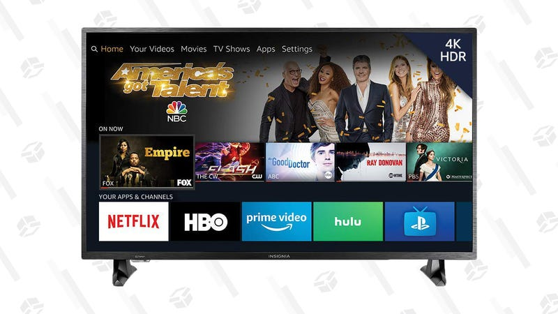 Insignia NS-43DF710NA19 43-inch 4K Ultra HD Smart LED TV HDR - Fire TV Edition | $200 | Amazon